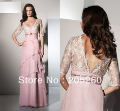 Custom Made Half Sleeve Long Lace Pink Mother Of The Bride Dresses DM006-in Mother of the Bride Dresses from Apparel & Accessories on Aliexpress.com