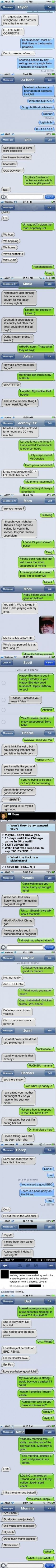 Best autocorrects of 2012 ~ Some if these actually made me laugh out loud.
