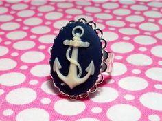 Nautical Anchor Cameo Ring $19.00
