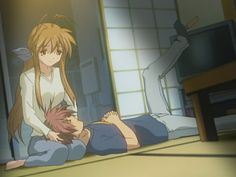 Sanae and Akio! I think Nagisa's parents are so cute! Clannad