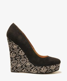 Geo Print Wedges | FOREVER21 - 2027706119 - Size 9 or 10?