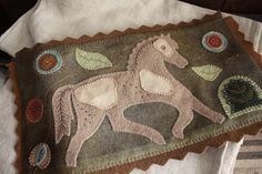 Wooly Pinto Pony Table Rug www.rebekahlsmith.com