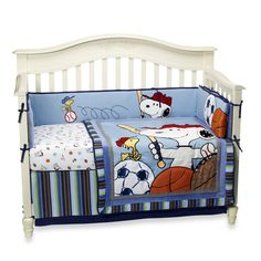 Bedtime Originals Snoopy Sports Baby Bedding And Accessories See More Lambs IvyR Team 4 Piece Crib Set