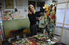 4 contemporary women artists at work in their studios:  Yolanda Dorda, Vivian Reiss, Michelle Concepcion and Heidi Conrod