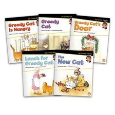 The Greedy Cat Big Book Set contains a copy of each of the 5 big books in the Joy Cowley Classics series. Guided reading level range: D–G. Writing Activities, Activities For Kids, Guided Reading Levels, Lakeshore Learning, First Grade Classroom, Read Aloud, Book Collection, Nursery Rhymes, Childrens Books