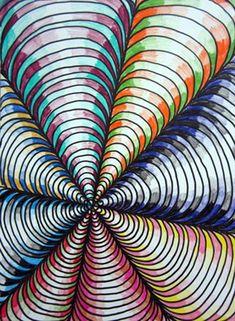 Optische illusies en gezichtsbedrog: Optische illusies spiralen