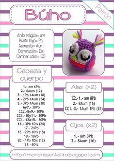 Best 12 Buho amigurumi patron by hester Owl Crochet Patterns, Crochet Owls, Love Crochet, Learn To Crochet, Crochet Animals, Knit Crochet, Amigurumi Tutorial, Crochet Keychain, Amigurumi Doll