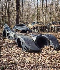 Cars Discover Abandoned Batman Car Dismaland is a temporary art project/installation organized and created by Banksy. Abandoned Cars, Abandoned Places, Abandoned Vehicles, Abandoned Ships, Batman Auto, Batman Batmobile, Film Cars, Vintage Cars, Antique Cars