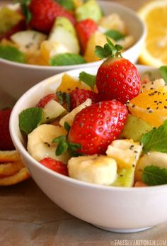 Recipe: Salad Recipes / Fruit salad spiced with cardamom and lemon tahini dressing - tableFEAST
