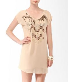 Cutout Metallic Paillette Dress from Forever21.com