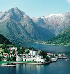 Kviknes Hotel in the fjords of Balestrand, Norway