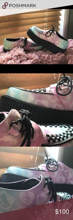 Hello kitty T.U.K creepers Limited edition T.U.K hello kitty creepers (worn once). -size 9- T.U.K Shoes Platforms