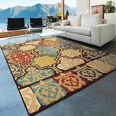 "Orian Rugs Indoor/Outdoor Geometric Yonder Multi Area Rug 78"" x 1010"" #NotApplicable"