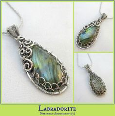 Labradorite Wire Pendant. Check me out at www.northernadornments.com, video class available at www.craftsy.com/ext/DawnHorner_5026_F