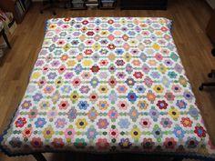 Hexagon Quilt - Flowers and Diamonds