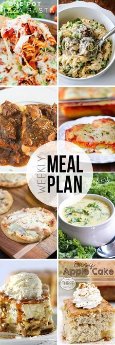 Easy Meal Plan #11 - 6 dinner and 2 dessert recipes from your favorite bloggers!