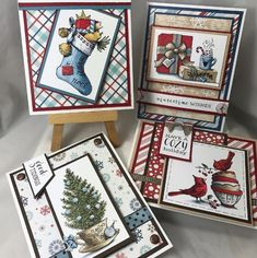 Fully Stocked and Cozy Cupfuls stamp sets by Power Poppy, card designs by Jennifer Dove.