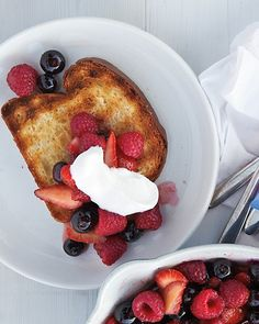 Grilled Brioche with Warm Fruit Recipe