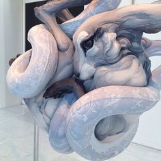 Clay sculpture by Beth Cavener Stichter