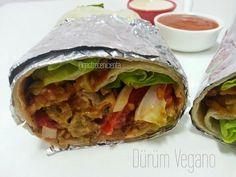 Dürüm vegano con salsas de kebab caseras
