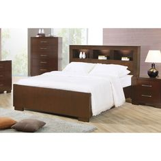 Coaster Company Jessica Collection Cappuccino Wood Bed - King