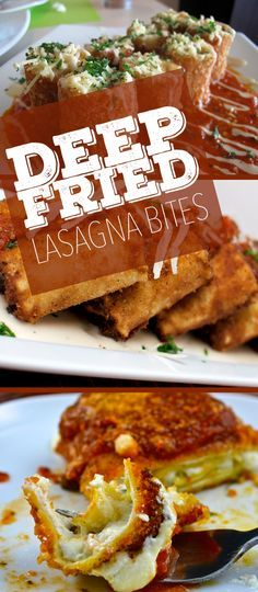 "Deep Fried Lasagna Rolls: If your cheat day is coming up and you are looking for something indulgent to try, look no further because we have the perfect recipe for you. Once you try ""Deep-Fried Lasagna"" there's no going back."