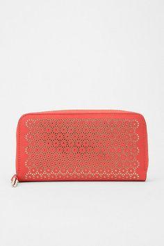 Urban Outfitters Kimchi Blue Lasercut Zip-Around Checkbook Wallet, $20