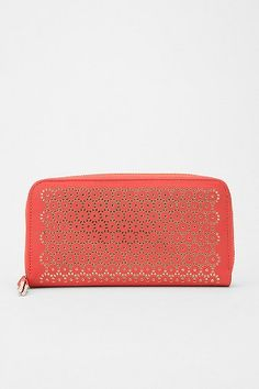 Kimchi Blue Lasercut Zip-Around Checkbook Wallet via Urban Outfitters - seen on You Are my Fave