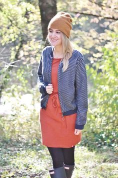 Fair fashion college jacket by armed angels and secondhand dress