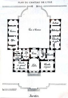 Plan du Château de L'Isle
