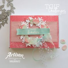 #TGIFC310 — Color Challenge | Swimming In Stamps Happy Good Friday, Tim Holtz Dies, Coordinating Colors, Card Making Inspiration, Paper Pumpkin, Watercolor Cards, Tgif, Wood Print, Stampin Up Cards