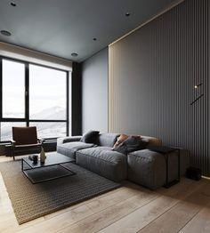 Home Decoration Design .Home Decoration Design Interior Design Companies, Best Interior Design, Home Design, Grey Living Room Sets, Living Rooms, Piece A Vivre, Dark Interiors, Home Decor Trends, Apartment Design