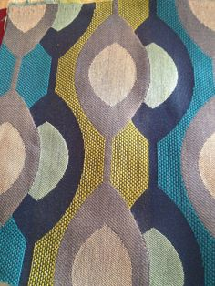 Jonathan Louis  fabric - Optic Overlap in Aqua, sold by the yard upholstery fabric