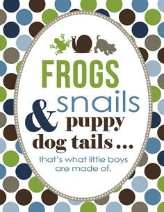 Frogs Snails and Puppy Dog Tails Baby by 3LittleMonkeysStudio