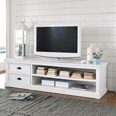 Wooden TV unit, white W 160cm