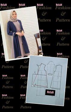 Dress Sewing Patterns, Sewing Patterns Free, Vintage Patterns, Clothing Patterns, Dress Muslim Modern, Tunic Pattern, Hijab Dress, Muslim Fashion, Blouse Designs