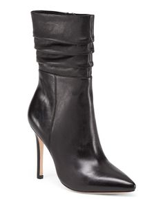2419bdd31dd Pointed Toe Leather Booties - Ankle Boots - T.J.Maxx