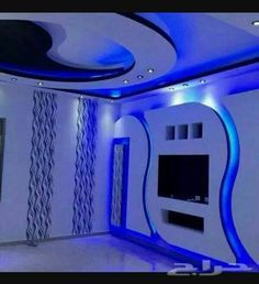 Gypsum Wall Unit Fireplace Design Company in Dhaka, Bangladesh House Ceiling Design, Ceiling Design Living Room, Bedroom False Ceiling Design, Tv Wall Design, Deco Tv, Gypsum Design, Gypsum Wall, False Ceiling Living Room, Plafond Design
