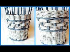 (595) Легкий интересный узор на корзиночке! (Плетение из газетных трубочек) - YouTube