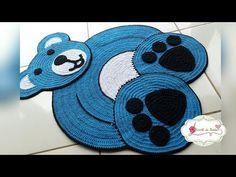 Ursso FINO CROCHÊ...EXECUTADO POR CROCHÊ DA NANDA ...CRIAÇÃO..JOSY SILVA ...FINO CROCHÊ - YouTube Crochet Mat, Crochet Carpet, Crochet Home, Filet Crochet, Crochet For Kids, Applique Patterns, Crochet Patterns, Kids Nap Mats, Crochet Collar