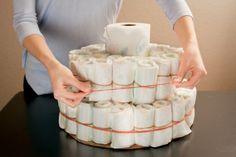 Diaper cake layering