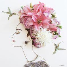 """""""My Fair Lady"""" Flower Face Print"""