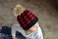 Now make the plaid hat for your littles! Pattern in two sizes, toddler and child.