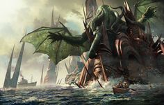 cover for the art book The Art of H.P.Lovercraft's Cthulhu Mythos by Michael Komarck