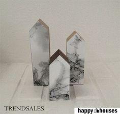 HAPPY^HOUSES by HAPPY! - UNIKKE TRÆHUSE M/MARMORGAVL - NYESTE TREND - INTROPRIS KR. 50,-