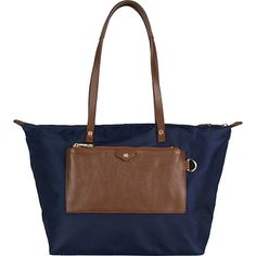 Baylee Short Tote in navy with stacked gold glitter first and last initial