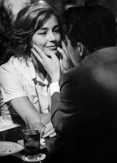 Emmanuelle Riva in Hiroshima Mon Amour directed by Alain Resnais, 1959
