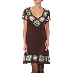 Crochet square dress.