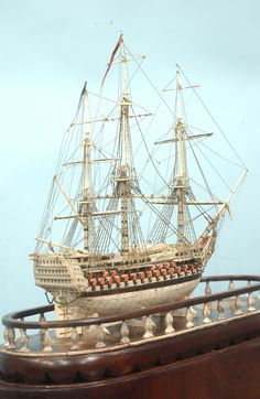 Prisoner-of-war Model of a 120 Gun Frigate. This and more important nautical art on CuratorsEye.com