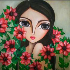 Big Eyes Paintings, Kalamkari Painting, Poster Background Design, Character Design Girl, Eye Painting, Digital Art Girl, Cartoon Art Styles, Decoupage, Face Art